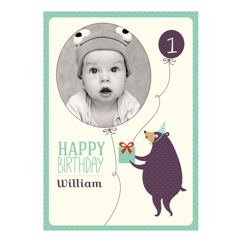 Dotty Creatures Poster <br/> with a space for 1 photo and your name or message  Personalisable Poster Hello Party - All you need to make your party perfect! - Hello Party