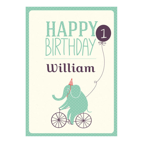 Dotty Creatures Poster <br/> with a space for your name or message  Personalisable Poster Hello Party - All you need to make your party perfect! - Hello Party