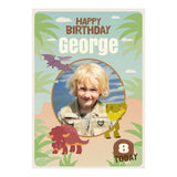 Roaring Birthday Dinosaurs Poster <br/> with a space for 1 photo and your name or message