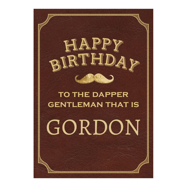 Dapper Gentleman Brown Poster <br/> with a space for your name or message  Personalisable Poster Hello Party - All you need to make your party perfect! - Hello Party