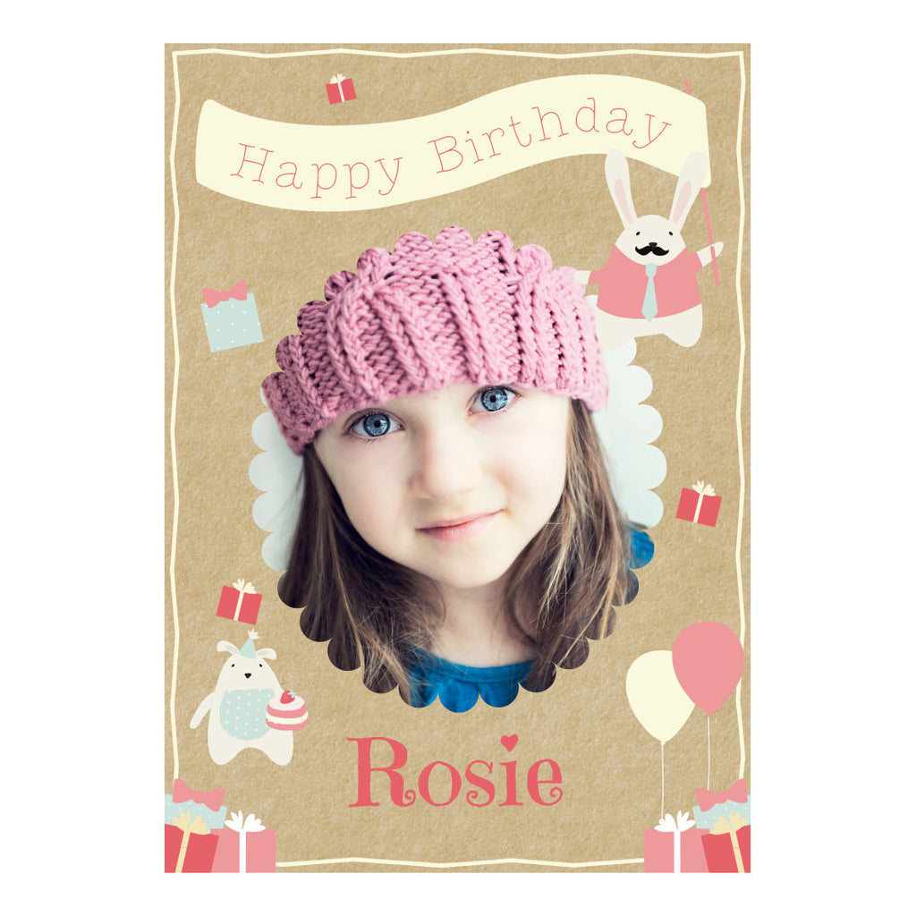Cute Tea Party Poster <br/> with a space for 1 photo and your name or message