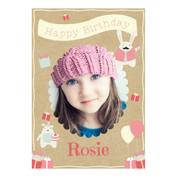 Cute Tea Party Poster <br/> with a space for 1 photo and your name or message  Personalisable Poster Hello Party - All you need to make your party perfect! - Hello Party