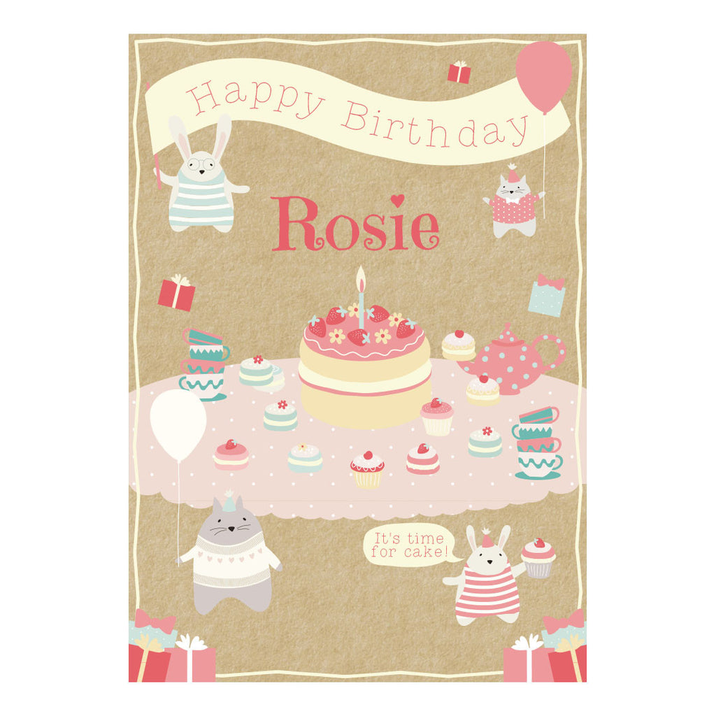 Cute Tea Party Poster <br/> with a space for your name or message  Personalisable Poster Hello Party - All you need to make your party perfect! - Hello Party