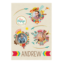 City Hopping Poster <br/> with spaces for 3 photos and your name or message  Personalisable Poster Hello Party - All you need to make your party perfect! - Hello Party