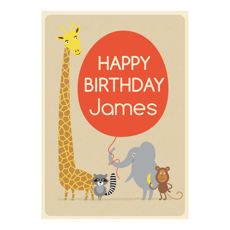 Cheeky Animal Party Poster <br/> with a space for your name or message  Personalisable Poster Hello Party - All you need to make your party perfect! - Hello Party