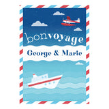 By Boat or By Plane Banner <br/> with a space for your name or message - Hello Party - All you need to make your party perfect!