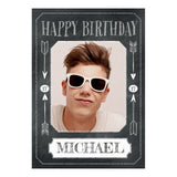 Cheeky Chalk Poster <br/> with a space for 1 photo and your name or message  Personalisable Poster Hello Party - All you need to make your party perfect! - Hello Party