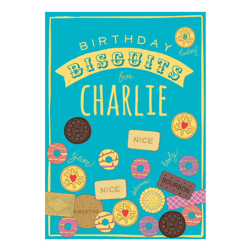 Birthday Biscuits Banner <br/> with a space for your name or message - Hello Party - All you need to make your party perfect!