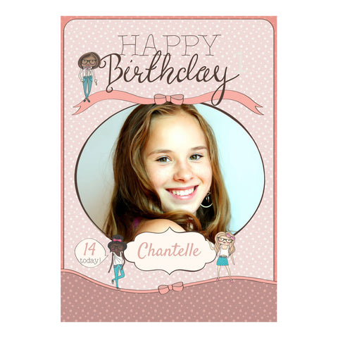 Birthday BFFs Poster <br/> with a space for 1 photo and your name or message  Personalisable Poster Hello Party - All you need to make your party perfect! - Hello Party