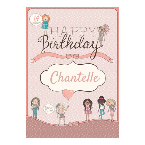 Birthday BFFs Poster <br/> with a space for your name or message  Personalisable Poster Hello Party - All you need to make your party perfect! - Hello Party