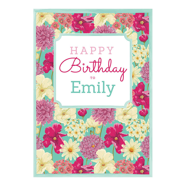 Big & Bright Birthday Blooms Poster <br/> with a space for your name or message  Personalisable Poster Hello Party - All you need to make your party perfect! - Hello Party