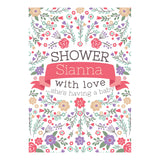 Baby Shower Flowers Banner <br/> with a space for your name or message - Hello Party - All you need to make your party perfect!