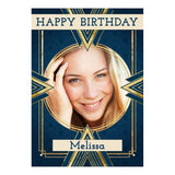 Art Deco Poster <br/> with a space for 1 photo and your name or message  Personalisable Poster Hello Party - All you need to make your party perfect! - Hello Party