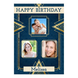 Art Deco Poster <br/> with spaces for 3 photos and your name or message  Personalisable Poster Hello Party - All you need to make your party perfect! - Hello Party