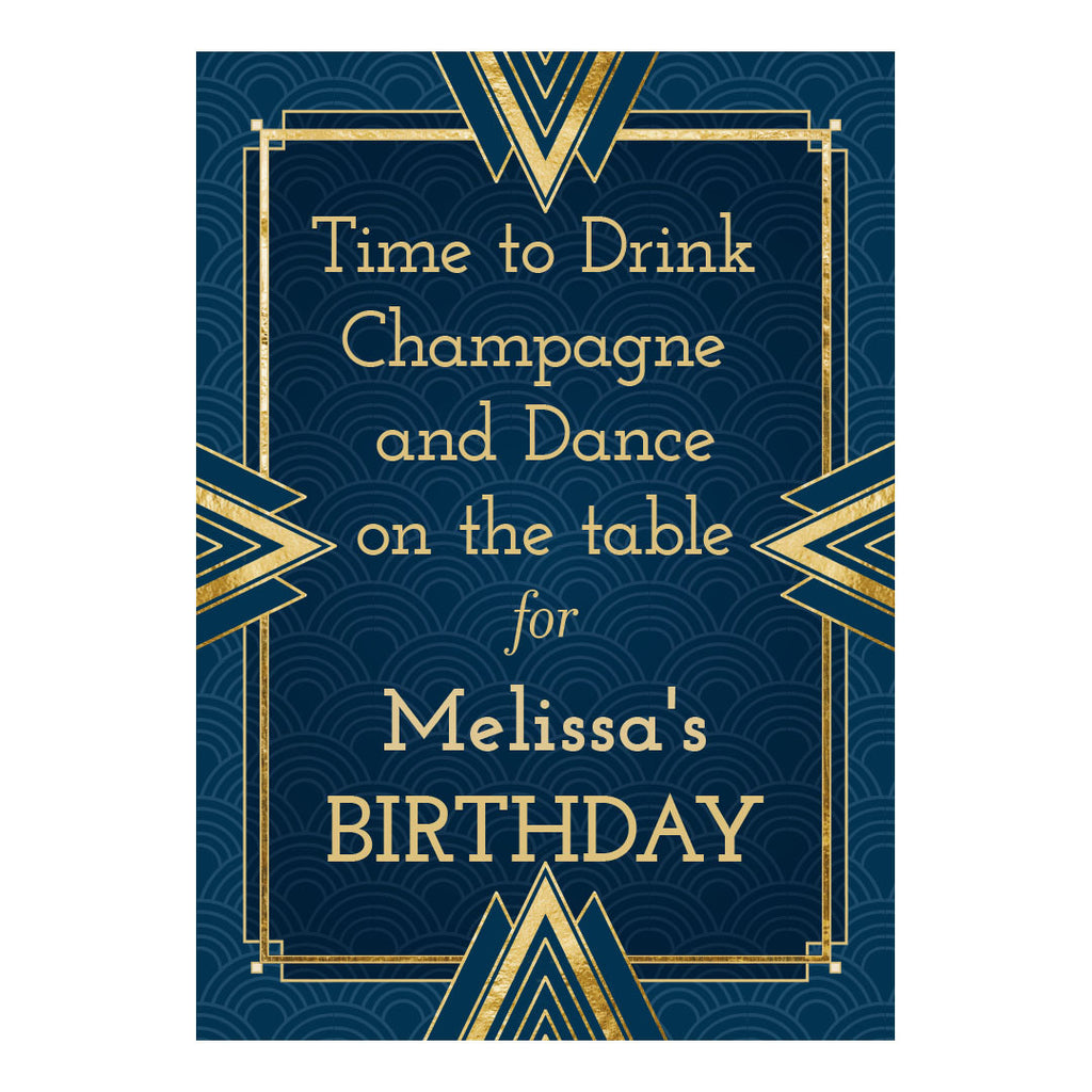Art Deco Poster <br/> with a space for your name or message  Personalisable Poster Hello Party - All you need to make your party perfect! - Hello Party