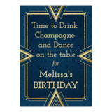Art Deco Banner <br/> with a space for your name or message - Hello Party - All you need to make your party perfect!