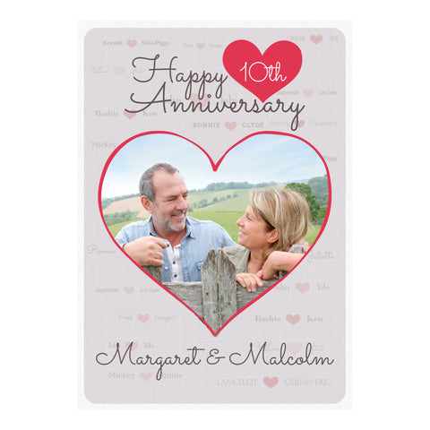 Happy Couple Poster <br/> with a space for 1 photo and your name or message