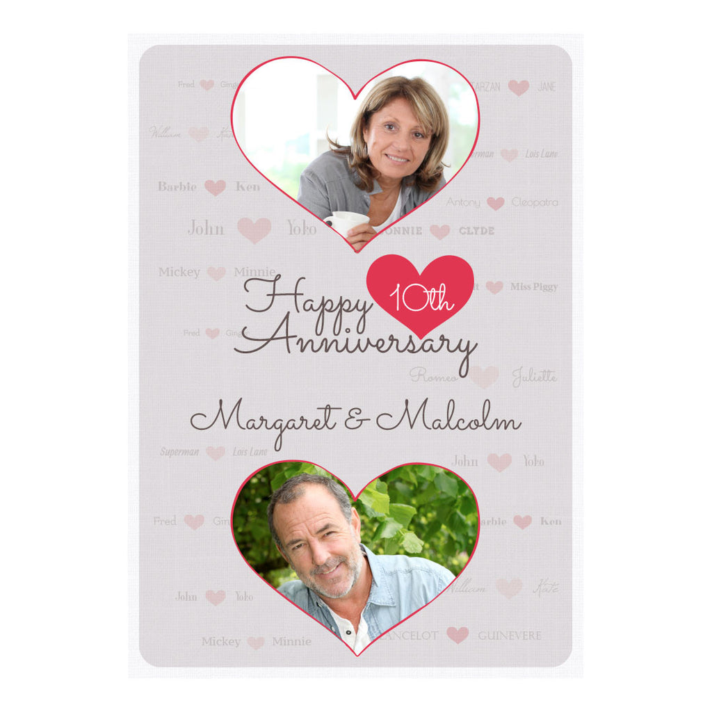 Happy Couple Poster <br/> with spaces for 2 photos and your name or message