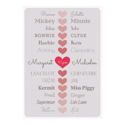 Happy Couple Poster <br/> with a space for your name or message