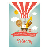 Animal Balloon Trip Party Banner <br/> with a space for your name or message - Hello Party - All you need to make your party perfect!