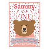 Bears & Flowers Banner <br/> with a space for your name or message - Hello Party - All you need to make your party perfect!