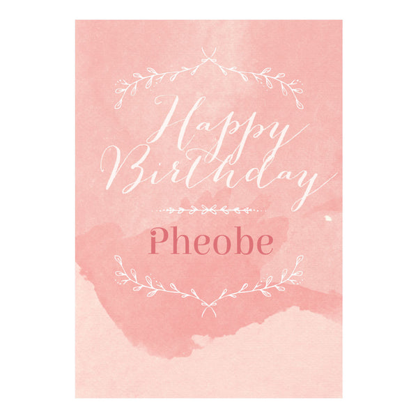 Pretty in Pink Poster <br/> with a space for your name or message