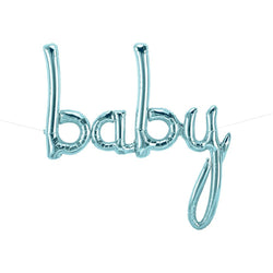Blue Baby Script Balloon  Balloons Northstar - Hello Party