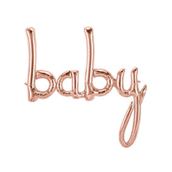 Rose Gold Baby Script Balloon  Balloons Northstar - Hello Party