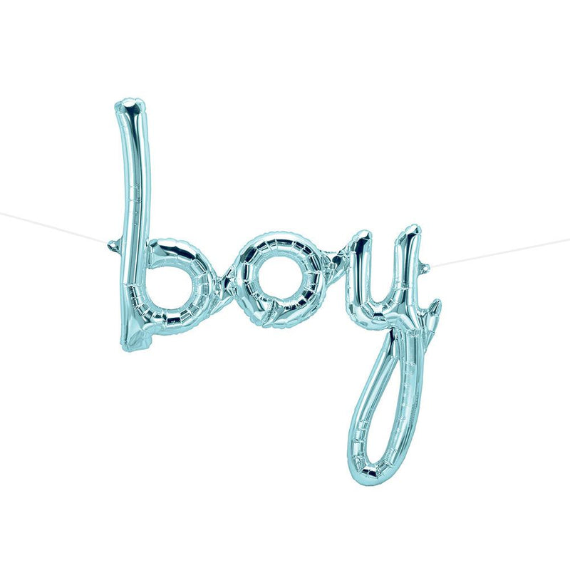 Blue Boy Script Balloon  Balloons Northstar - Hello Party