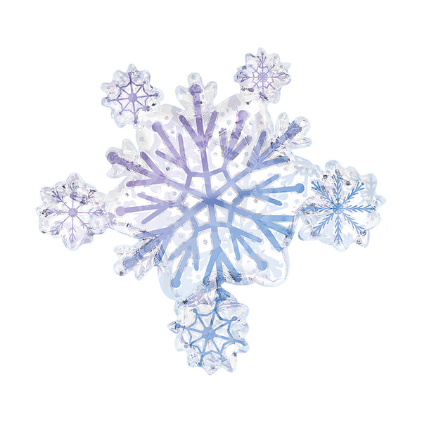 Snowflake Cluster Supershape Christmas Party Foil Balloon