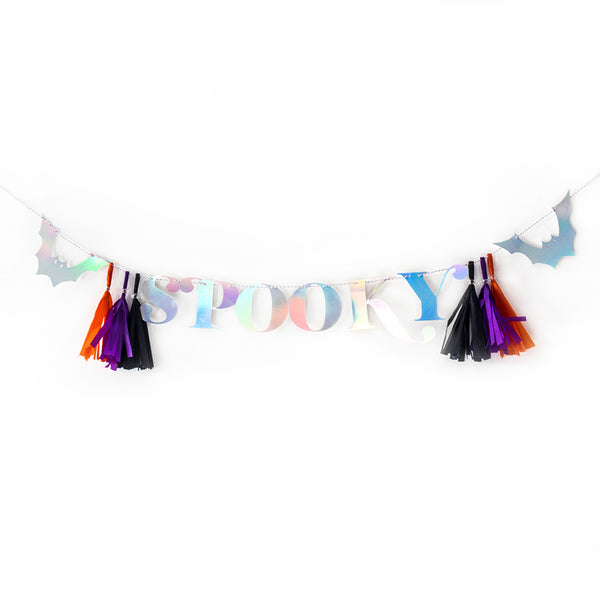 Spooky Luxe Halloween Party Letter Banner