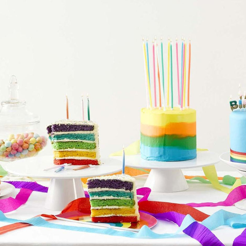 Birthday Brights Rainbow Candles  Party Candles Talking Tables - Hello Party