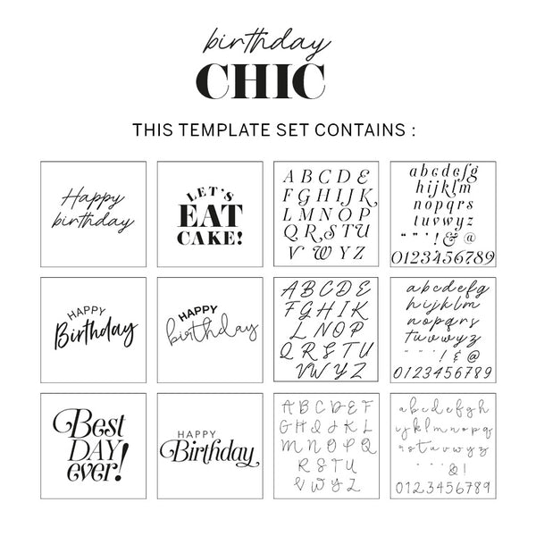 Birthday Chic Template Pack for your Hooray Party Display  Hooray Party Display Templates Hello Party - Hello Party