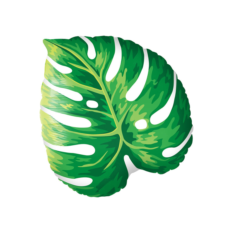 Tropical Philodendron Leaf Shaped Balloon  Supershape Balloons qualatex - Hello Party