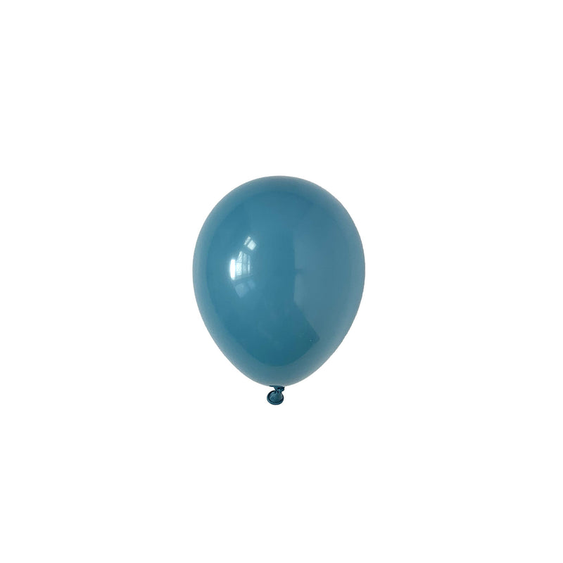 Mini Blue Slate Party Latex Balloons | Biodegradable | Modern & Stylish Party Supplies