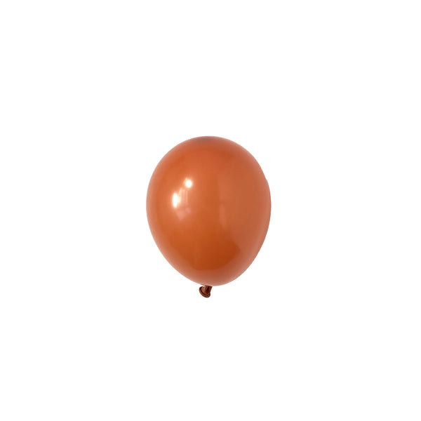 Mini Burnt Orange Party Latex Balloons | Biodegradable | Modern & Stylish Party Supplies