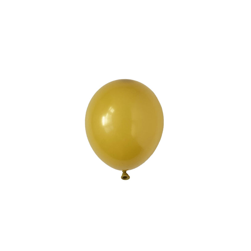 Mini Mustard Party Latex Balloons | Biodegradable | Modern & Stylish Party Supplies