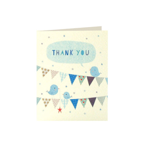 Blue Bunting Thank You Cards (Pack of 5)