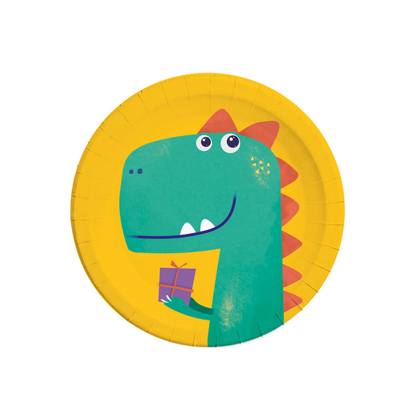 Compostable Dinosaur Roar Paper Plates  Party Plates Qualatex - Hello Party