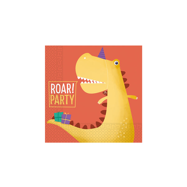Dinosaur Roar Paper Napkins  Napkins Qualatex - Hello Party