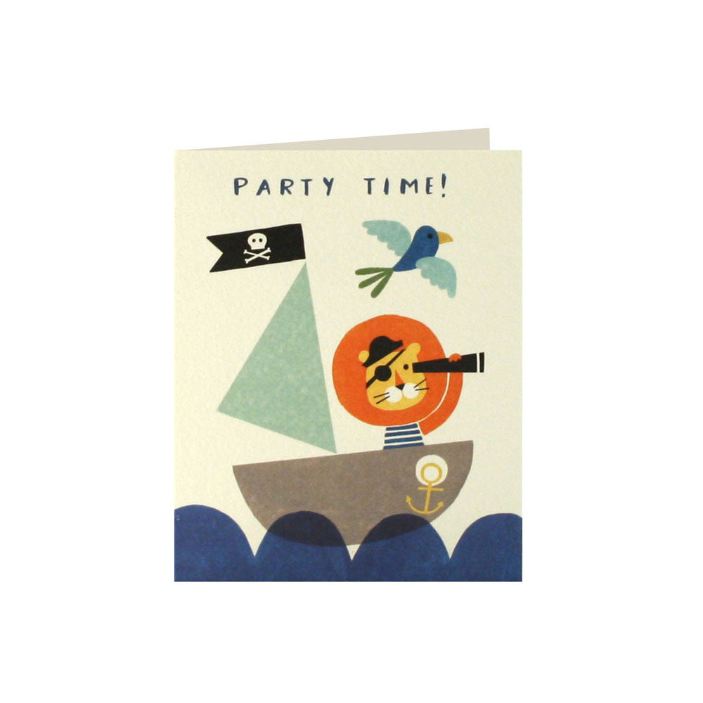 Pirate Lion Invitations Pack of 5 Hello Party