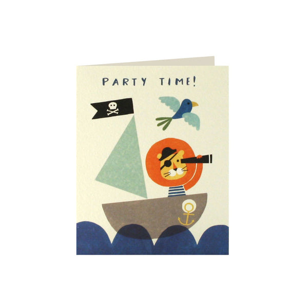Pirate Lion Invitations (Pack of 5)  Invitations James Ellis - Hello Party