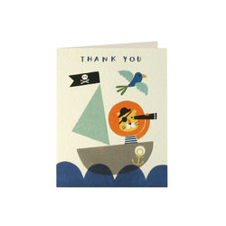 Pirate Lion Thank You Cards (Pack of 5)  Thank You Cards James Ellis - Hello Party