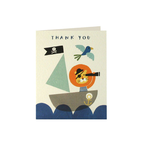 Pirate Lion Thank You Cards (Pack of 5)