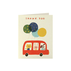 Bus Thank You Cards (Pack of 5)  Thank You Cards James Ellis - Hello Party