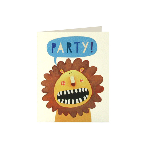 Lion Invitation (Pack of 5)  Invitations James Ellis - Hello Party