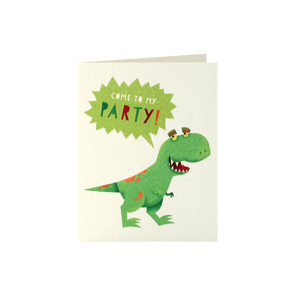 Dinosaur Invitation (Pack of 5)  Invitations James Ellis - Hello Party