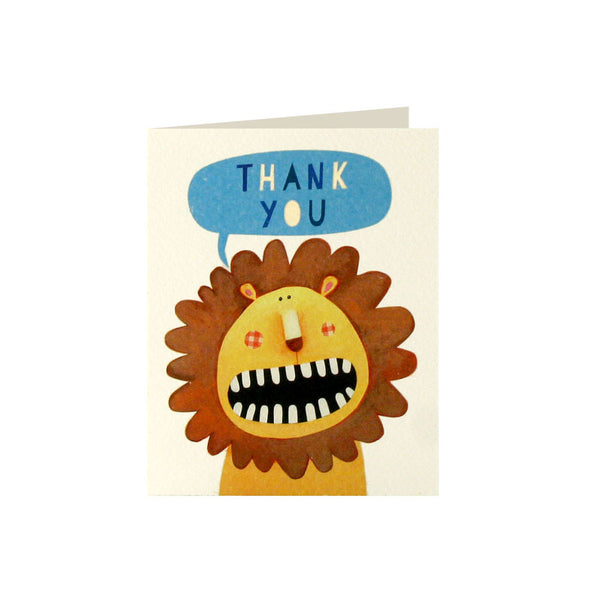 Lion Thank You Cards (Pack of 5)  Thank You Cards James Ellis - Hello Party