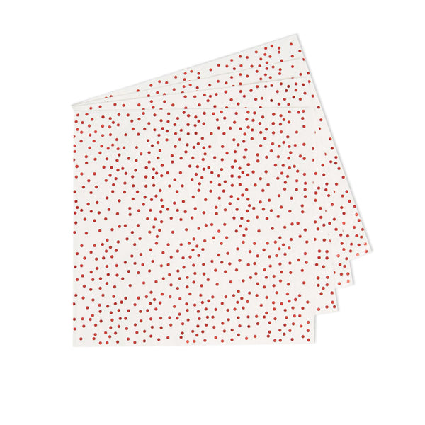 Metallic Red Dotty Napkins (pack of 16)  Napkins Neviti - Hello Party