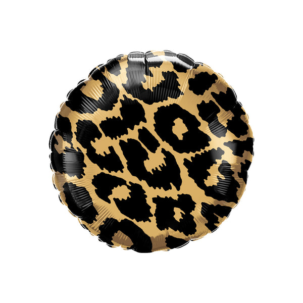 Leopard Print Round Foil Balloon Animal Print Party Balloon